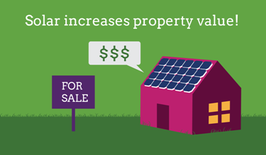 house with solar valued more